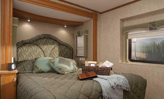 luxurious rv bedroom
