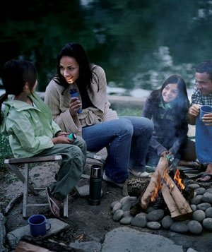Hanging out around the campfire